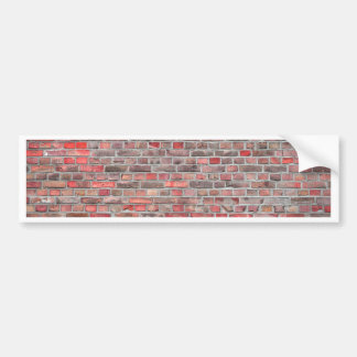 bakstenen muurachtergrond - rode vintage steen bumpersticker