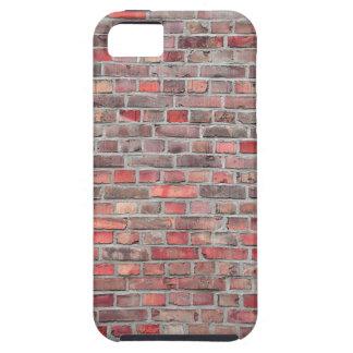 bakstenen muurachtergrond - rode vintage steen tough iPhone 5 hoesje