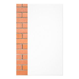 Bakstenen muurpatroon briefpapier ontwerp