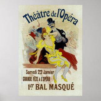 Bal Masque van DE l'Opera ~ van het theater 1er Poster