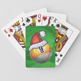 Bal negen in het Pet van de Kerstman op Groen Pokerkaarten