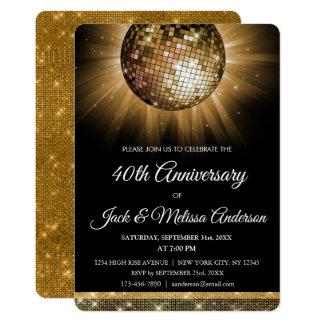 bal van de Disco van de 40ste van het Huwelijk Kaart