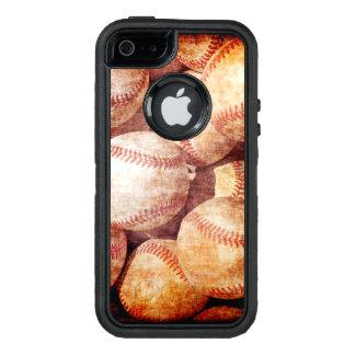 Ballen van de Sport van het Honkbal van Grunge de OtterBox Defender iPhone Hoesje