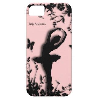 Ballerina in Roze Persoonlijke iPhone 5 van de Barely There iPhone 5 Hoesje