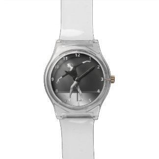Ballerina in Zwart-witte Klantgericht Horloges