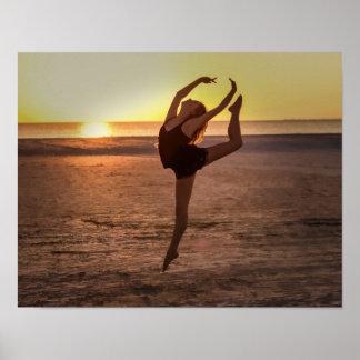 Ballet op het Strand Poster