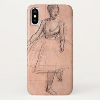 Balletdanser (studie) door Edgar Degas, Vintage iPhone X Hoesje