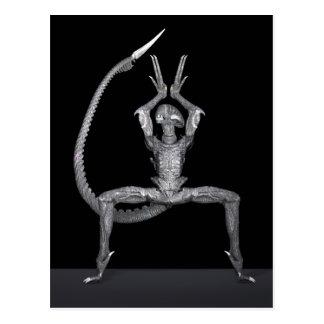 Balletdanser van Kosmische ruimte Briefkaart
