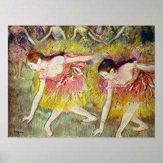 Balletdansers door Edgar Degas Poster