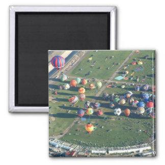 Ballon Albuquerque in de Ochtend Vierkante Magneet