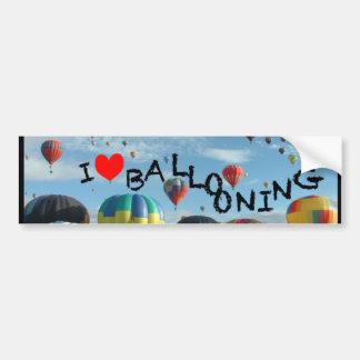 ballon i liefde het ballooning bumpersticker