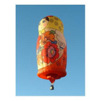 Ballon Matroesjka Briefkaart