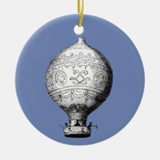 Ballon van de Hete Lucht van Montgolfier de Rond Keramisch Ornament