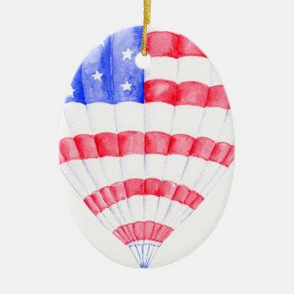 Ballon van de Lucht van de Vlag van de waterverf Keramisch Ovaal Ornament