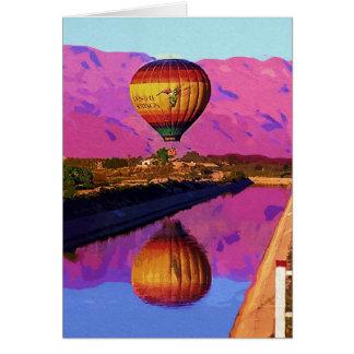 Ballon, Zonsondergang, Palm Springs, Californië Kaart