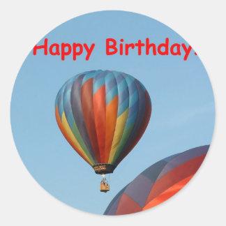 Ballons, Gelukkige Verjaardag, generische 2 Ronde Sticker