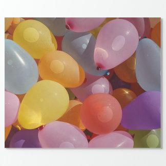Ballons op het Verpakkende Document van de Gift Inpakpapier
