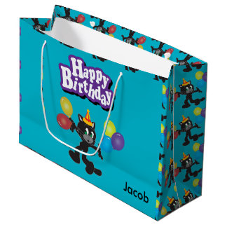 Ballons van één de Koele Verjaardag van de Kat Groot Cadeauzakje