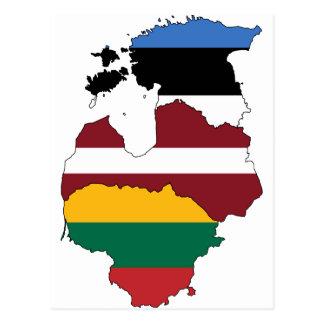 Baltische staten briefkaart