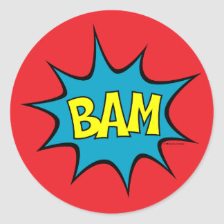 Bam! Ronde Sticker