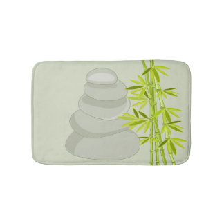 Bamboe en zen stenen badmat