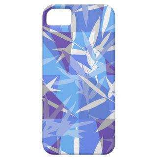 Bamboe in Blauw Geometrisch Patroon Barely There iPhone 5 Hoesje
