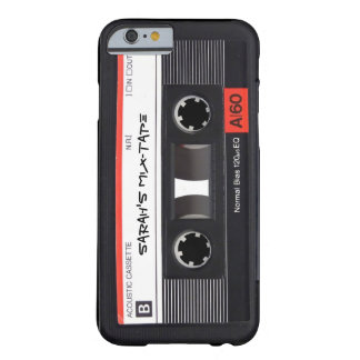 Band van de Cassette van de douane Retro Barely There iPhone 6 Hoesje