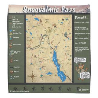 Bandana van de de paskaart van Snoqualmie