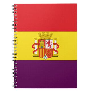 Bandera DE La República Española Ringband Notitieboek