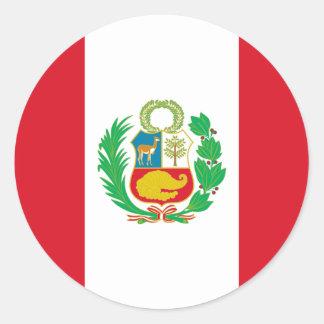 Bandera del Perú - Vlag van Peru Ronde Stickers