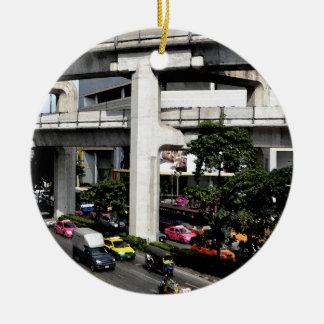 Bangkok Rond Keramisch Ornament
