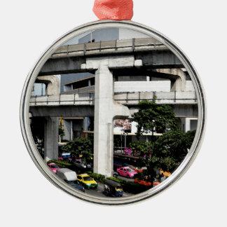 Bangkok Zilverkleurig Rond Ornament