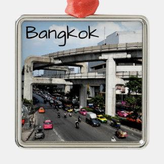Bangkok Zilverkleurig Vierkant Ornament