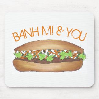 Banh Mi & u het Vietnamese Voedsel Foodie van de Muismatten
