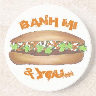 Banh Mi & u het Vietnamese Voedsel Foodie van de Zandsteen Onderzetter