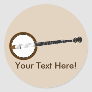 Banjo Ronde Sticker