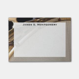 Banjo van de Muziek van het monogram de Witte en Post-it® Notes