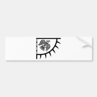 Banner van de Raaf van Viking de Zwarte Bumpersticker