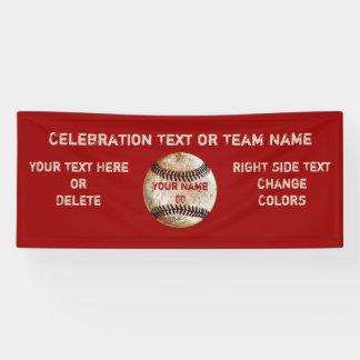 Banner van het Honkbal van de douane de Vintage,