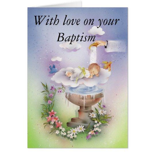 Baptism Christening baby Kaart