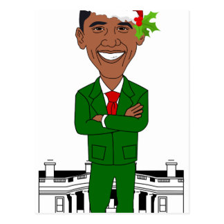 barack obama de Kerstman Briefkaart