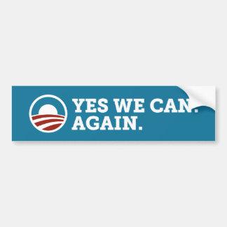 Barack Obama ja kunnen wij opnieuw het Blauw van d Bumpersticker