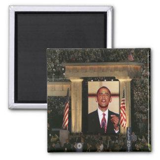 Barak Obama spreekt bij de laatste nacht van Vierkante Magneet