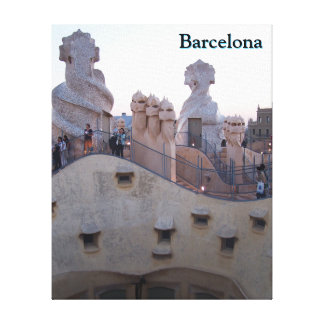 Barcelona Casa Mila door Antoni Gaudi Customized Canvas Print