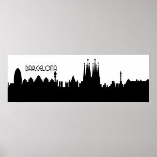 Barcelona horizondeco poster