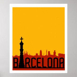 Barcelona, Spanje, het Poster van de Reis