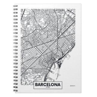 Barcelona, Spanje | Kaart van de Stad Ringband Notitieboek