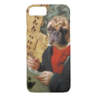 Barkthoven - pug Beethoven iPhone 8/7 Hoesje