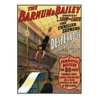 Barnum en de Sprong van de Desperado van Briefkaart