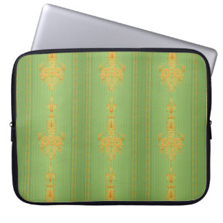 Barok bloemenpatroon met grens… laptop sleeve
